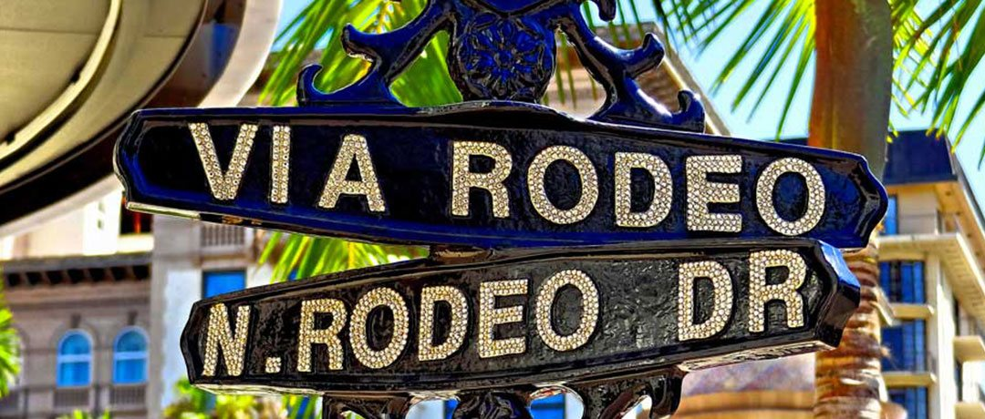 Rodeo Dr. street signs