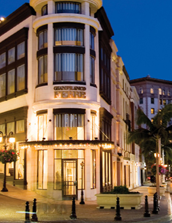 The front exterior of the Gianfranco Ferre located near the Maison 140 Hotel in the heart of Beverly Hills