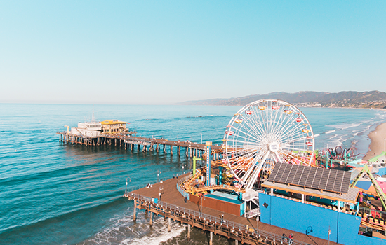 The Santa Monica Pier located near the Maison 140 hotel in Beverly Hills